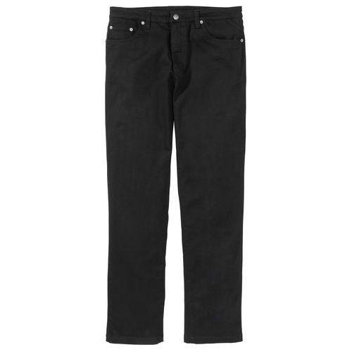 Spodnie ze strechem classic fit straight czarny marki Bonprix