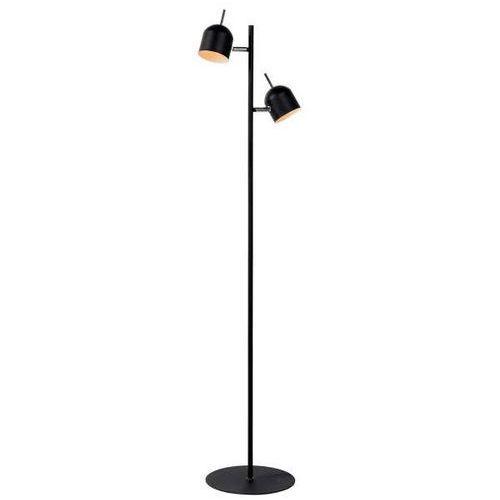 Lampa podłogowa laredo cs-fl077 stojąca oprawa metalowa z reflektorkami czarna marki Zumaline