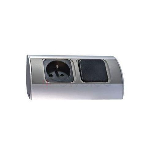 Gniazdo meblowe z wyłącznikiem 1x230v marki Orno