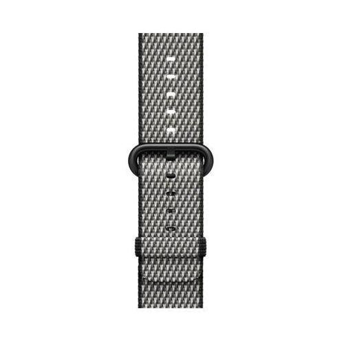 Pasek do smartwatcha watch z plecionego nylonu w kolorze czarnym (w kratkę) do koperty 38 mm mqv92zm/a marki Apple