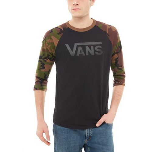 Koszulka - vans classic ragl black/camo (blr) rozmiar: l marki Vans
