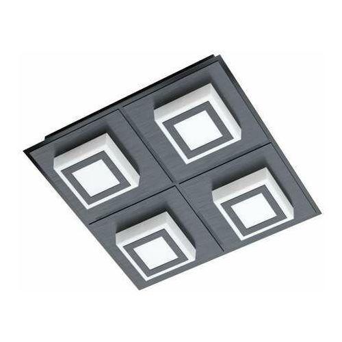 Eglo Masiano 1 99364 plafon/kinkiet lampa ścienna/sufitowa 3x3,3W LED czarny/satyna, kolor Czarny