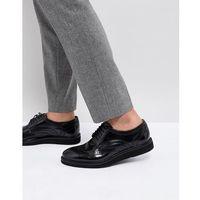 orion hi shine brogue shoes in black - black, Base london