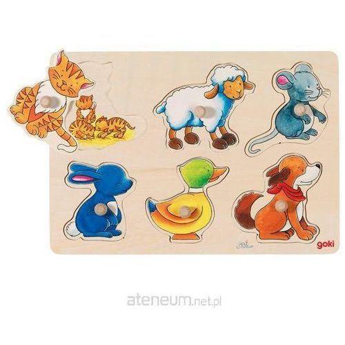 Układanka - puzzle z uchwytami, Mama i dzieci - Goki (4013594579292)