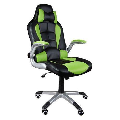Giosedio Fotel biurowy czarno-zielony, model bst047 (5902751540314)