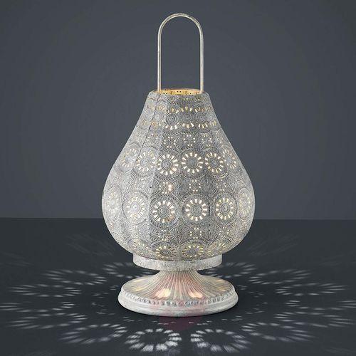 jasmin lampa stołowa siwy, 1-punktowy - vintage - obszar wewnętrzny - jasmin - czas dostawy: od 6-10 dni roboczych marki Trio