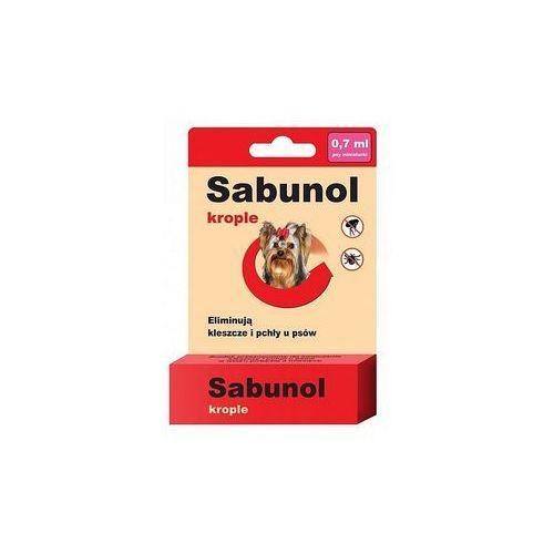 Sabunol krople spot on przeciw pchłom i kleszczom dla psa xs 0,7ml - estra small