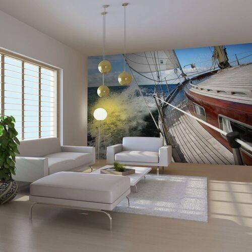 Fototapeta - łódź na pełnym morzu marki Artgeist