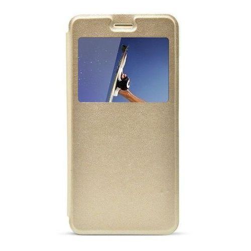 Flip leather  złoty | etui z klapką dla huawei y6 ii - złoty
