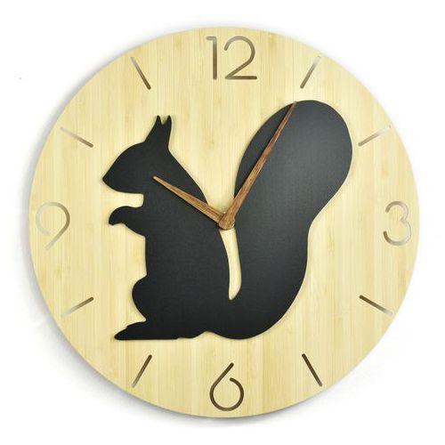 Woodwaycrafts Zegar ścienny - wild i - squirrel