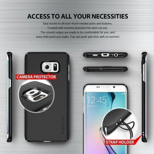 Etui Rearth Ringke Slim Samsung Galaxy S6 Edge+ [Plus] - SF Black (8809452170765)