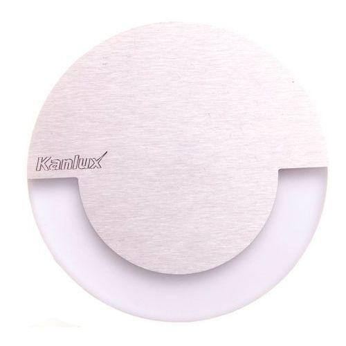 Kanlux Oprawa schodowa sola 7 cm srebrna okrągła led barwa ciepła (5905339231000)