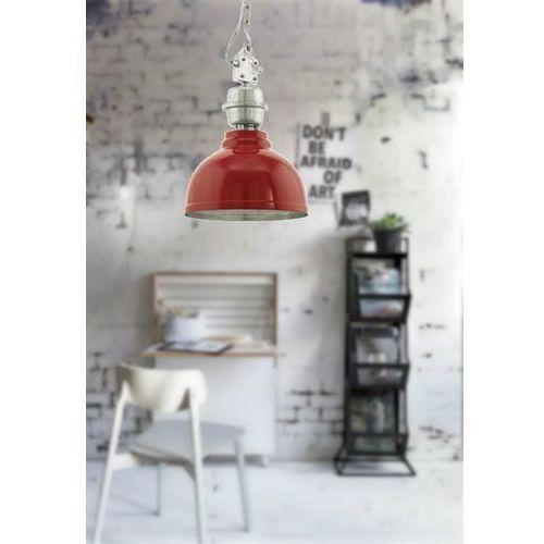 Lampa wisząca grantham 49177 metalowa oprawa zwis ip20 kopuła czerwona marki Eglo