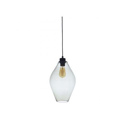 TK Lighting Tulon 4190 Lampa wisząca zwis 1x60W E27 transparentny/czarny (5901780541903)