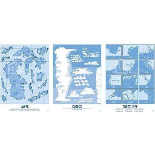Plakat Lakes, Clouds i Coastlines w zestawie 3 szt., zesclcen3040