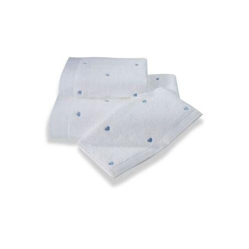 Zestaw podarunkowy ręczników MICRO LOVE Biały / niebieskie serduszka, 8082_BOX