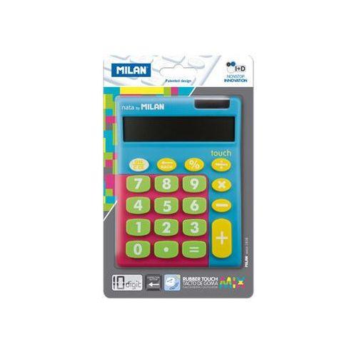 Kalkulator 10 poz. Touch Duo mix niebieski MILAN