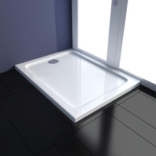 Vidaxl  brodzik prostokątny abs, biały (70 x 90 cm)