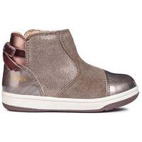 Geox buty za kostkę dziewczęce new flick 25 brązowo-szare