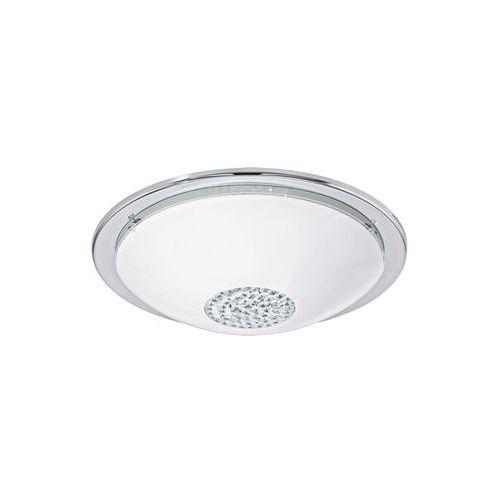 Plafon Eglo Giolina 93778 lampa sufitowa 1x16W LED biały/chrom/kryształ (9002759937782)
