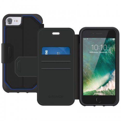 Griffin Survivor Strong Wallet - Etui iPhone X z kieszeniami na karty (czarny/szary), kolor czarny