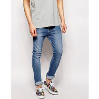 Dr Denim Leon Slim Light Stone Wash Jean - Blue