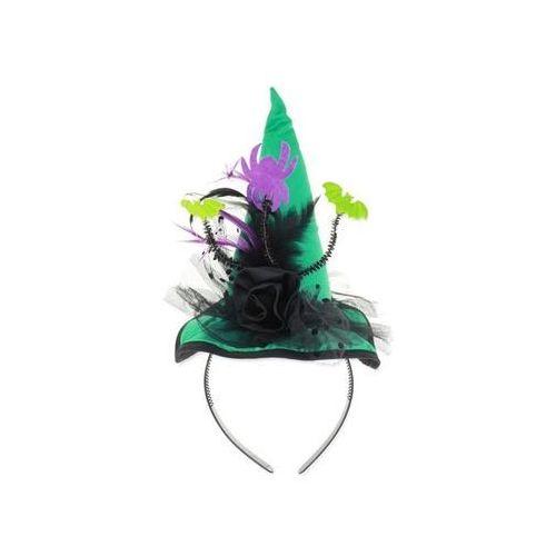 Go Opaska kapelusz turkusowy pióra i nietoperze - 1 szt.