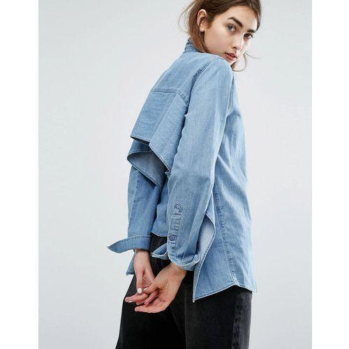 Cheap Monday Open-Back Denim Shirt - Blue - produkt z kategorii- Pozostałe