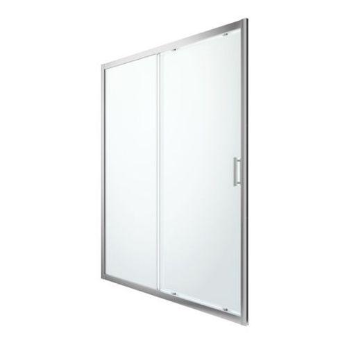 Goodhome Drzwi prysznicowe przesuwne beloya 160 cm chrom/transparentne