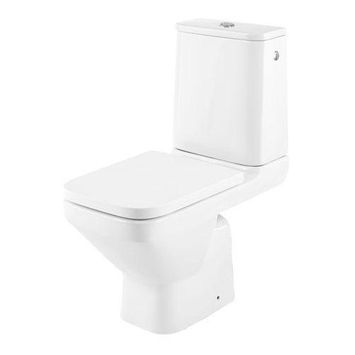 Kompakt WC GoodHome Teesta bezkołnierzowy boczny z deską wolnoopadającą