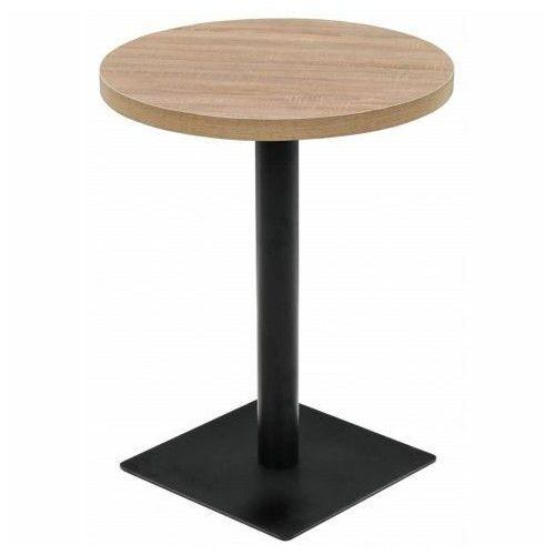 Jasnobrązowy stolik bistro - carol 2x marki Elior