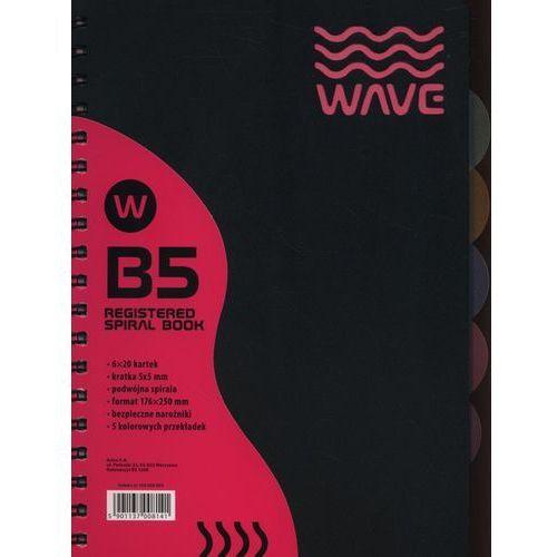 Kołozeszyt b5/120k kratka wave astra marki Astra papiernicze