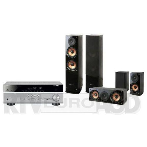 Yamaha MusicCast RX-V485 (tytanowy), Pure Acoustics NOVA 6 (czarny), RX-V485T+NOVA6BK