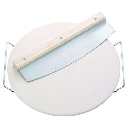 Kamień do pizzy LEIFHEIT 3159 ceramiczna Biały + Nóż kołyskowy + DARMOWY TRANSPORT!