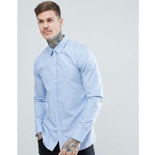 elisha poplin extra slim fit shirt in light blue - blue marki Hugo