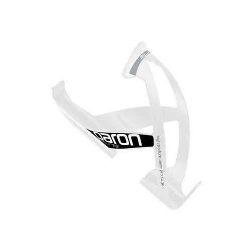 El0101512 koszyk na bidon paron race biały z czarną grafiką marki Elite