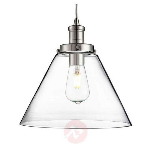 Searchlight Nowoczesna szklana lampa wisząca pyramid (5053423057729)