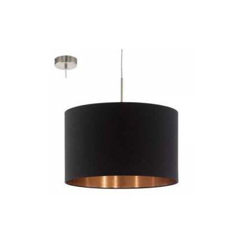 Eglo Lampa wisząca pasteri 94913 z abażurem 1x60w e27 fi38 czarny/miedź (9002759949136)