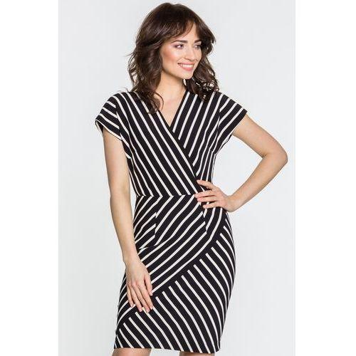 Sukienka w paski - SU, 1 rozmiar