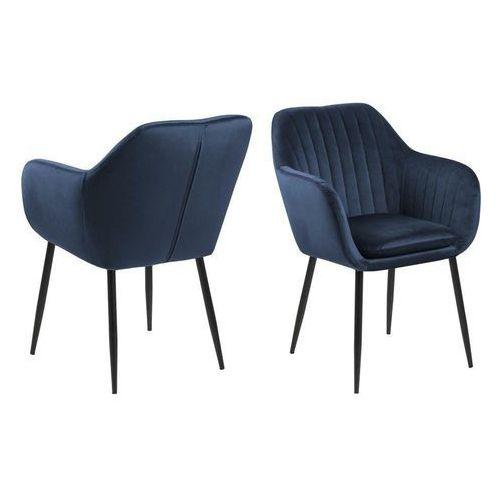 Krzesło emilia velvet deep blue/black marki Actona