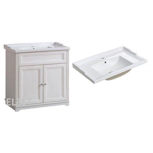 COMAD szafka Palace Andersen white + umywalka Retro 80 PALACEWHITE821+CFP80RETRO, kolor biały
