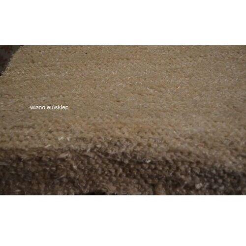 Twórczyni ludowa Chodnik bawełniany ręcznie tkany ecru z połyskiem 50x150 cm