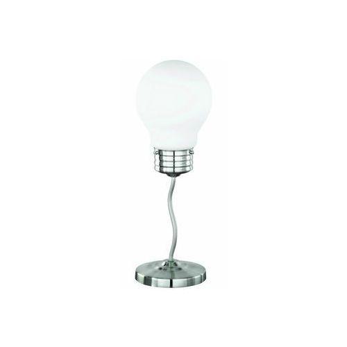 Lampa stołowa lampka żarówka Reality Luce 1x40W E14 nikiel mat / biała 508001-07, 508001-07