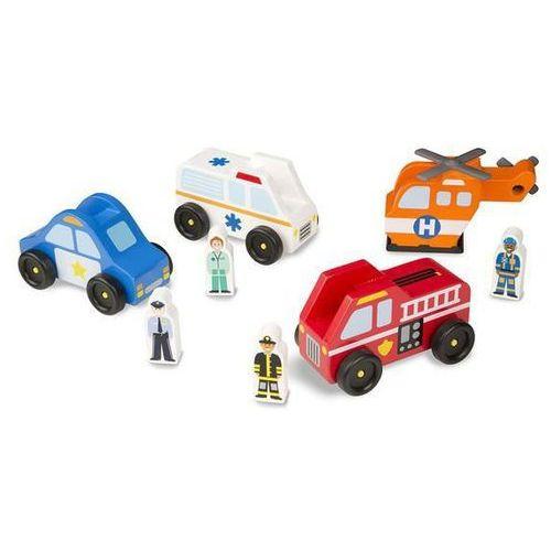 Zestaw pojazdów ratunkowych - 4 sztuki, melissa & doug marki Melissa & doug.