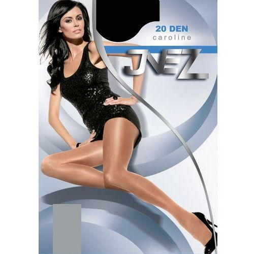 Rajstopy Inez Caroline Elastil 20 den 5-XXL 5-2XL, beż/natural, Inez