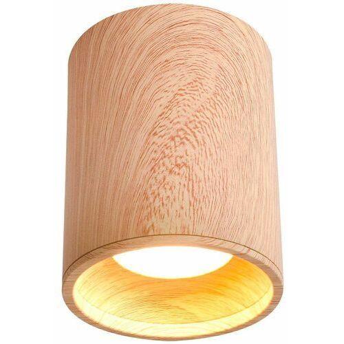 Candellux Sufitowa lampa downlight 2277165 metalowa oprawa plafon okrągły drewniany