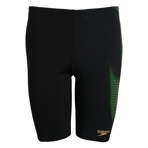 Speedo PLACEMENT JAMMER Szorty kąpielowe black/fluo green/fluo yellow