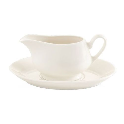 Spodek porcelanowy do sosjerki crema marki Fine dine
