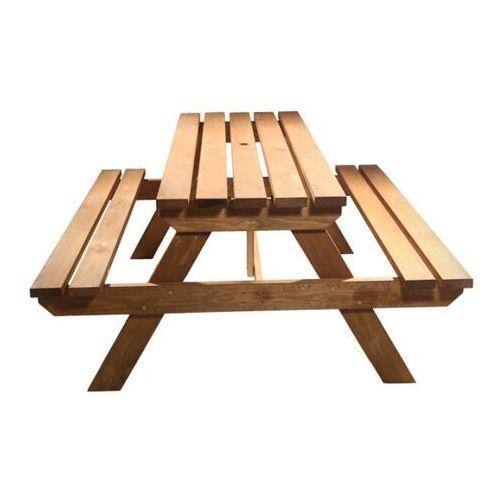 Ławka piknikowa GoodHome Agad brązowa (3663602936299)