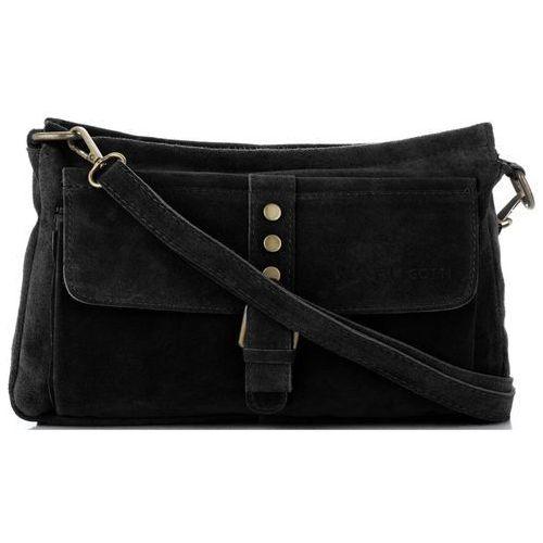 48d4e757233f6 Vittoria gotti firmowe torebki skórzane listonoszki wykonane z wysokiej  jakości zamszu naturalnego czarne (kolory)